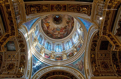 CMG_5567 (world's views) Tags: stpetersburg golden cathedral russia lookingup angels dome sacred orthodox 2014 saintisaacscathedral