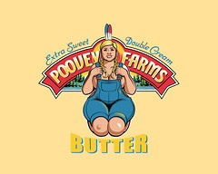 CreamyPam (leonryan.com) Tags: funny tits boobs butter pam blonde archer popculture dairy chubby landolakes poovey