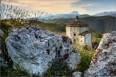 Rocca Calascio - S. Maria della Piet (Luigi Alesi) Tags: santa italy parco landscape nikon scenery italia raw maria gran della rocca paesaggio laga abruzzo laquila nazionale sasso piet calascio d7100 schiesa