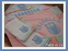 Kit bebe corujinha (Patch da Lu) Tags: de soft coruja boca manta fraldinha