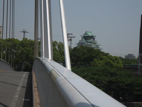 大阪城が見えます