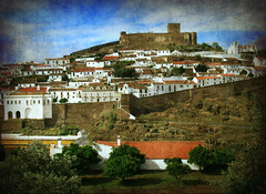 Mertola View (Jocelyn777) Tags: city travel castles portugal walls monuments alentejo textured cityviews mertola historictowns moorishcastles wallsandfortifications