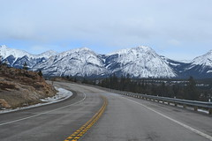 Alberta Beautiful Highways! (nbalsaleh) Tags: winter white snow canada mountains ice clouds landscape rockies alberta roads winterbeauty wildness