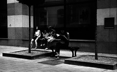 Kiev 4 + Jupiter-8M 53/2 - On Koblin Street (Kojotisko) Tags: street city people bw streets vintage person czech streetphotography brno cc creativecommons vintagecamera czechrepublic streetphoto persons kiev4 jupiter8 jupiter8m agfaphotoapxpan100 agfaphotoapx jupiter8m532 agfaphotoapxpan