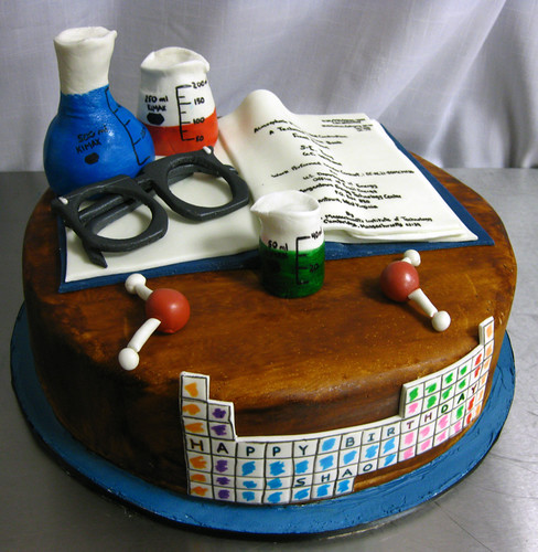 Chemist Science Cake med