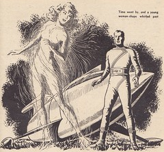 Startling Stories / Illustration 8 (micky the pixel) Tags: sf illustration drawing goddess raumschiff sciencefiction spaceship pulp noise zeichnung jackvance startlingstories