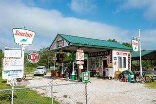 Historic Route 66 - 'Gay Parita' Sinclair Service Station near Halltown, Missouri