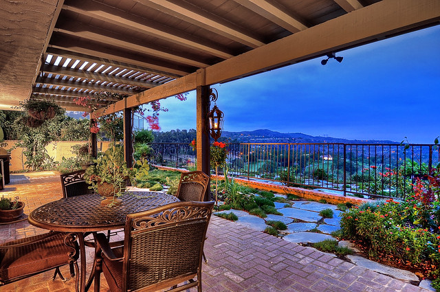 anaheim patio. End Of Cul-de-sac On Anaheim Hills Golf Course And Commanding Never Ending Panoramic Views Overlooking The Stretching Clear To Palos Verdes, Patio
