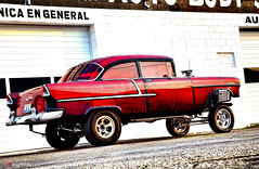 1955_CHEVROLET_GASSER (AceOBase) Tags: usa history car vintage reflections
