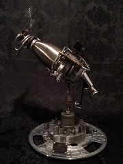 Vowelerizer (Spaceboyd.com) Tags: fiction newzealand recycled science scifi recycle foundobject raygun steampunk junkart seanboyd