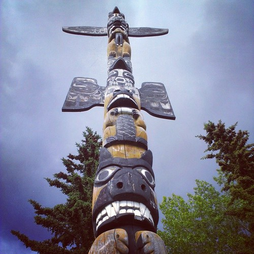 Despite a fierce-looking bear, the Friendship Totem Pole was made to encourage unity among Yukoners #yxy