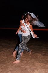 De Bende van Lynn (Dennis Bevers) Tags: girls friends beach hair fun happy veil belgium bachelorette wrestling lynn barefoot be tanktop ribbon brunette oostende bacheloretteparty flanders flowercrown