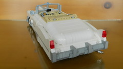 1949 Cadillac Series 62 Convertible (J0n4th4n D3rk53n) Tags: white car lego large convertible cadillac series ideas 62 1949 moc 2014