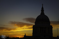 St Pauls Cathedral (Umbreen Hafeez) Tags: city uk sunset england building london church colors silhouette st architecture clouds buildings europe cityscape colours cathedral pauls gb