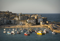 St Ives (jamiegaquinn) Tags: sun st boats evening boat cornwall harbour stives ives