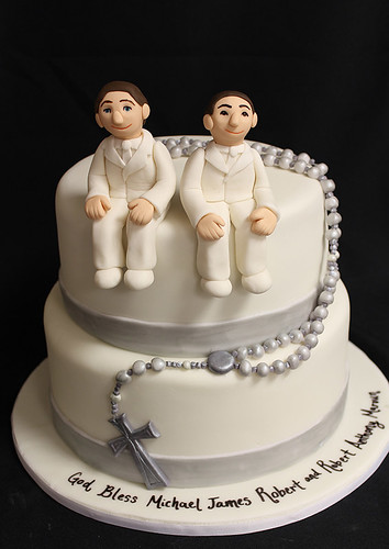 Confirmation Cake Rosary Beads