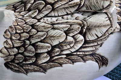 Back feather details
