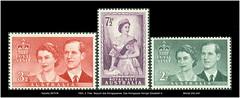 1954, 2. Febr. Besuch des Knigspaares. Das Knigspaar Knigin Elisabeth II.  Michel 242-244 Australia 2679 M (Morton1905) Tags: royal australia 1954 visit des ii das elisabeth besuch knigin knigspaar knigspaares