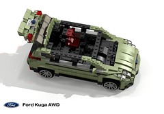 Ford Kuga Trend AWD 2.0 Diesel (C520 - 2014) (lego911) Tags: auto life green ford car real ginger model escape lego render ale company motor trend challenge 82 compact cad irl lugnuts mkii kuga povray c1 crossover moc 2014 ldd cuv miniland powershift c520 lego911 lugnutsinreallife
