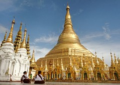 Shwedagon Pagoda, Myanmar (Topoki) Tags: travel color colour building heritage tourism motif architecture temple design pagoda daylight shrine colorful asia day pattern cloudy outdoor space shwedagon yangon burma religion culture vivid buddhism myanmar colourful southeast paya copy pilgrimage rangoon destinations pickbykc
