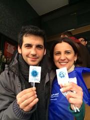 Fran Perea (embajador) con Ángela Navarro, Directora de la Federación