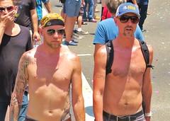 LAPride2 2014 433 (danimaniacs) Tags: shirtless man hot sexy guy tattoo beard losangeles hunk parade gaypride westhollywood stud csw tats tatts lapride22014