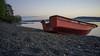 DSCF0242 (Хоргмо) Tags: red norway boat norge fujifilm rød båt hamar mjøsa hedmark x100 hoyandx400 fujifilmx100 rødbåt
