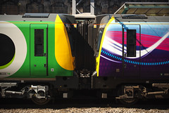 350373 & 350405 Carlisle 22/07/2014 (Flash_3939) Tags: uk station train july rail railway emu lm carlisle commonwealthgames unit tpe 3504 transpennine 2014 3503 class350 firsttranspennineexpress londonmidland