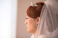 Side view of happy bride (Apricot Cafe) Tags: img14160 20s asianethnicity canonef70200mmf28lisiiusm chiba japan japaneseethnicity narita beauty bride ceremony cerenity chapel charming cheerful closeup concentration crown dress earing enjoying face formal happiness horizontal hotel humanface indoors party portrait sideview togetherness twopeople wedding weddingdress woman youngadult naritashi chibaken jp