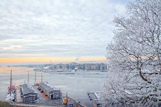 Oslo in frost, Norway