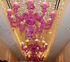 Pink Chandeliers at the Cosmopolitan