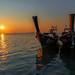 Twin boats sunrise