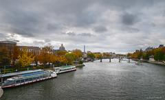 Typical Parisian postcard from the Pont Neuf on the River Seine (Ennio Fratini) Tags: e510 europa fr fra france francia olympus paris sena autumn bridge cityscape europe hdr luminositymasks river seine tourism travelphotography îledefrance