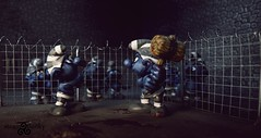 Scandal Smurf Prison Photos. Smurf cage fight (1) (torq42) Tags: smurf schlumpf prison shocking conditions scandal