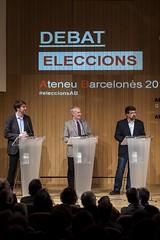 D'esquerra a dreta els tres candidats a president: Bernat Dedéu, Jordi Casassas i Genís Roca. (Ateneu Barcelones) Tags: ateneubarcelonès saladactesoriolbohigas eleccionsalateneu2017 debat genisroca ateneu2021cat jordicasassas ateneuelteu bernatdedéu ordreiaventura milagrospérezoliva