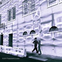 Week 11, 52 week challenge - split tone (nataliekrovetz) Tags: runner splittone dogwood2017 dogwood52 reflection shadows running windows downtown charlottesville virginia motion