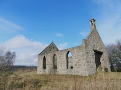 St Ninians Church (Roofless), Oyne, Aberdeenshire, Mar 2017 (allanmaciver) Tags: st ninian church ruin roofless aberdeenshire scotland bell tower 1807 style architecture shell trees allanmaciver