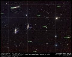 20170128 M65 Leo Triplet annotated (mpusatera) Tags: galaxy space astronomy astrophotography messier leo triplet leotriplet m65 m66 ngc3628 ngc3593
