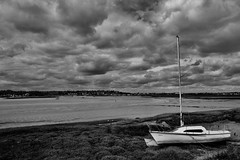 River Blackwater (Bruce82) Tags: water sand mud boat sailingboat malldon essex river blackwhite bw 9 9of117 117picturesin2017 riverblackwater lowtide ef24105mmf4lisusm canoneos5dmarkiii canon canalriverstream