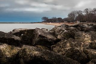 beach boulder barrier