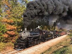 Southern Smoke at Rossville (Appalachianrails) Tags: railway southern sou 630 4501 steam smoke metal steel iron engine locomotive 280 mikado 282 tvrm ga georgia rossville coal fire excursion rail rails passenger transit transportation history historic restored rural