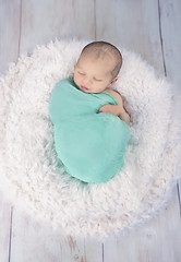 :: easter babe :: (mjcollins photography) Tags: newborn baby infantgirl 5daysold underaweek neutral teal green sleepy sleep snuggle