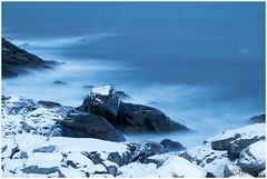 frozen waves (HP023846) (Hetwie) Tags: lofoten landschap bergen norway noorwegen sea natuur snow sneeuw mountains nature zonsondergangsea zee ice landscape water visitlofoten winter myrland nordland