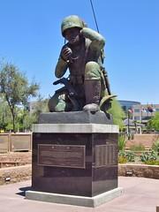 Phoenix, Arizona (Jasperdo) Tags: phoenix arizona roadtrip wesleybolinmemorialplaza memorial navajocodetalkers worldwarii wwii statue navajo nativeamerican