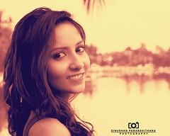 Shehara (Dinushan Paranavithana) Tags: her shehara she pretty girl moratuwa sri lanka srilanka lunawa lagoon river smile