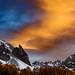 France - Orange Cloud above the Clarée
