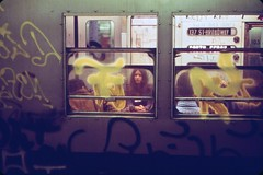 Mid 1970s subway memories of decrepit 1930s train cars, harsh fluorescent lighting, mounds of litter, stations reeking of urine and ubiquitous graffiti which defaced virtually all public spaces back then. The good old days! (maybe). New York. April 1976 (wavz13) Tags: oldphotographs oldphotos 1970sphotographs 1970sphotos oldphotography 1970sphotography vintagephotographs vintagephotos vintagephotography filmphotos filmphotography newyorkphotographs newyorkphotos oldnewyorkphotography oldnewyorkphotos vintagenewyork vintagemanhattan vintagenewyorkphotography vintagenewyorkphotographs vintagenewyorkphotos oldsubways vintagesubways railroadphotos railroadphotography railroads vintagerailroads vintagerailroadphotography oldrailroads oldrailroadphotography 1970smanhattan 1970snewyork oldnewyork oldmanhattan broadway