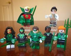 Earthling Green Lanterns (Freakzz) Tags: lego custom green lantern hal jordan white jessica cruz simon baz stewart guy gardner kyle rayner