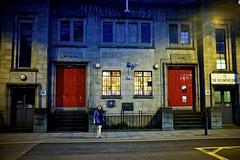 Old Baths, Hackney Wick (I M Roberts) Tags: oldpublicbaths eastway hackneywick eastlondon streetscene nightscene fujix100s