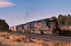 .(SEE & HEAR)-DRGW 5386, Buena Vista, CO. 5-11-1996 (jackdk) Tags: train railroad railway locomotive emd emdsd40 emdsd402 emdsd40t2 drgw riogrande denverandriograndewestern freighttrain freight buenavista buenavistacolorado colorado tennesseepass tennsseepassline